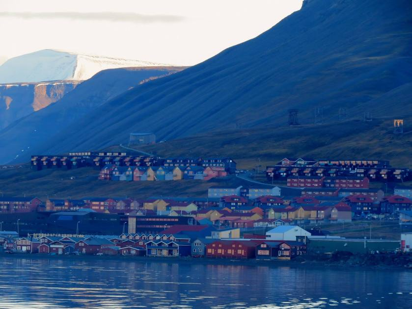 Longyearbyen seen from the Harbour